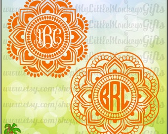 Mandala ~ Mandala SVG ~ Mandala Monogram SVG ~ 2 Color ~ 3 Color ~ Monogram Svg ~ Commercial Use SVG ~ Cut File ~ Clipart ~ svg-dxf-eps-png