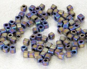 Toho 1.5mm Cube, Metallic Brown Iris Matte (615), 10 grams