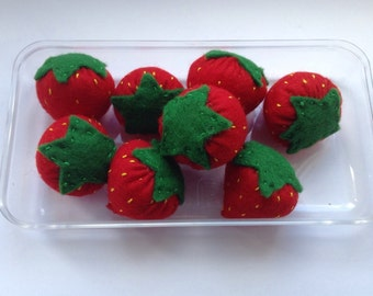 Decorative Felt Strawberries featured on Official Wimbledon Pinterest