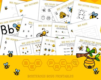 Bee PreK Printable Early Learning Pack