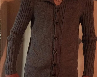 A Hand Knitted Cardigan for the Modern Man