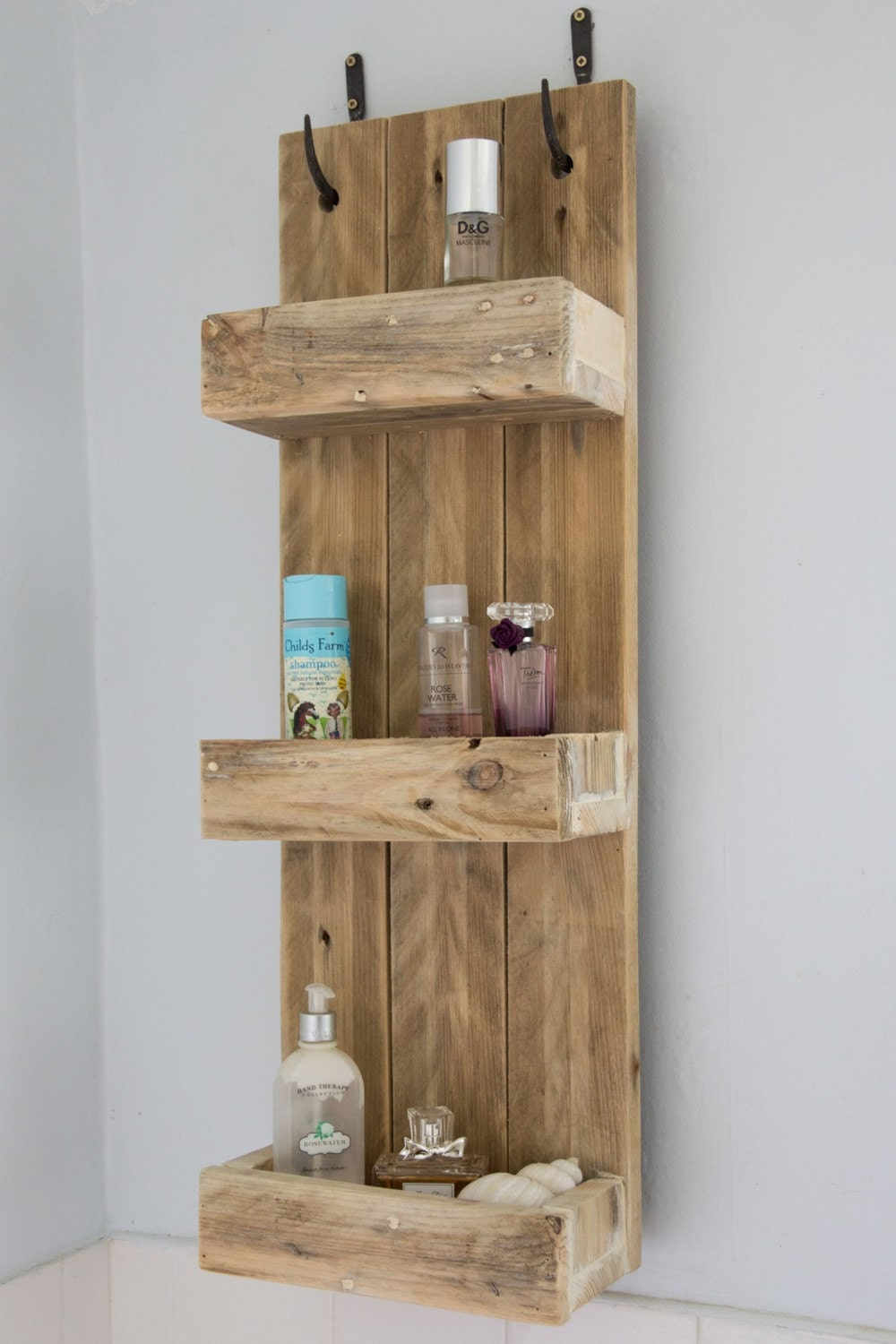Bathroom Cabinets 30cm Wide rustic bathroom shelves made from reclaimed pallet wood