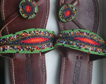 Leather African sandals