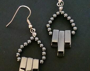 Genuine Hematite Earrings in various styles