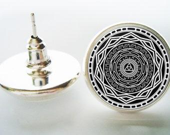 Mirror of Twilight The Legend of Zelda Twilight Princess Earrings (Silver/Bronze)