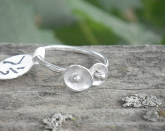Poppy Ring US size 7 1/2  Sterling Silver
