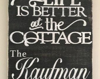 Cottage Sign, Family Sign