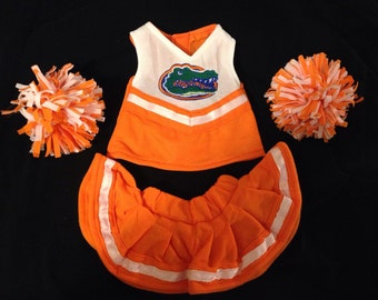 FL Gators 18 inch doll cheerleader outfit