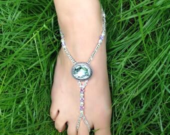 Wedding/Beach Barefoot Sandal/Foot Jewelry  Style: Sunset
