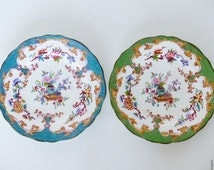 2 antique Minton Bone China plates,late 19th century
