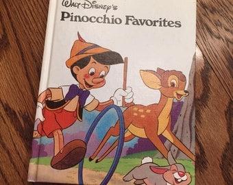 Children's Story Book Pinoccho's Favorites Vintage Book