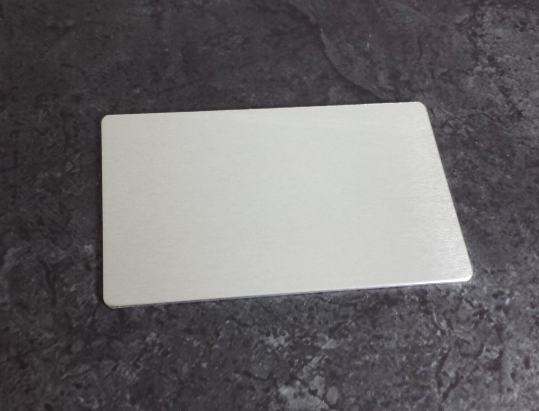 aluminum wallet card insert blank 3003 aluminum 18 gauge