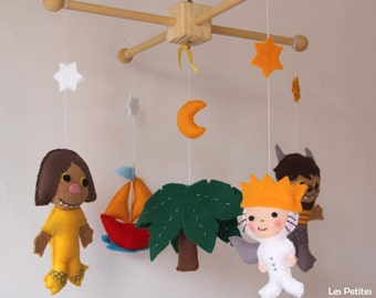 Where the wild thing are baby- Where the Wild Things Are  - Nursery Decor Monster Mobile Cute Monsters Baby Boy Nursery Decor