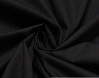 Fabric pure cotton poplin black