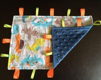 Taggie Blanket - Custom Baby Taggie Blanket - Boy