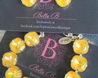 Bella B Ultra Citrine 10 Stone bracelet & studs