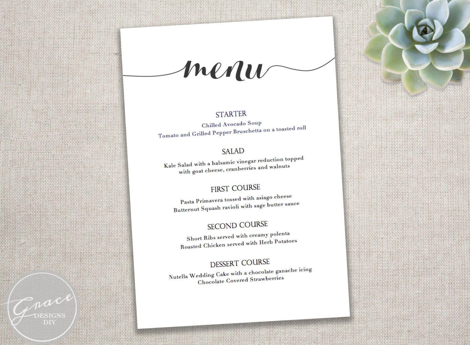 Lively image for printable menus template