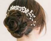 Decorative hair vine comb, Bridal hair comb, bridal headpiece, wedding hair comb, wedding hair vine , pearl and diamante bridal hair comb,