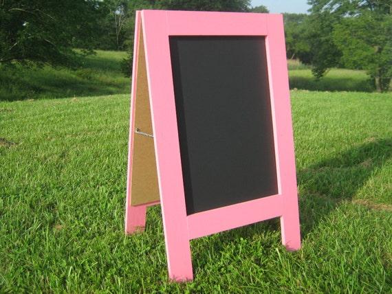 Easel chalkboard sidewalk chalkboard sandwich chalk board chalkboard sign Pink a frame chalkboard girls room playroom nursery