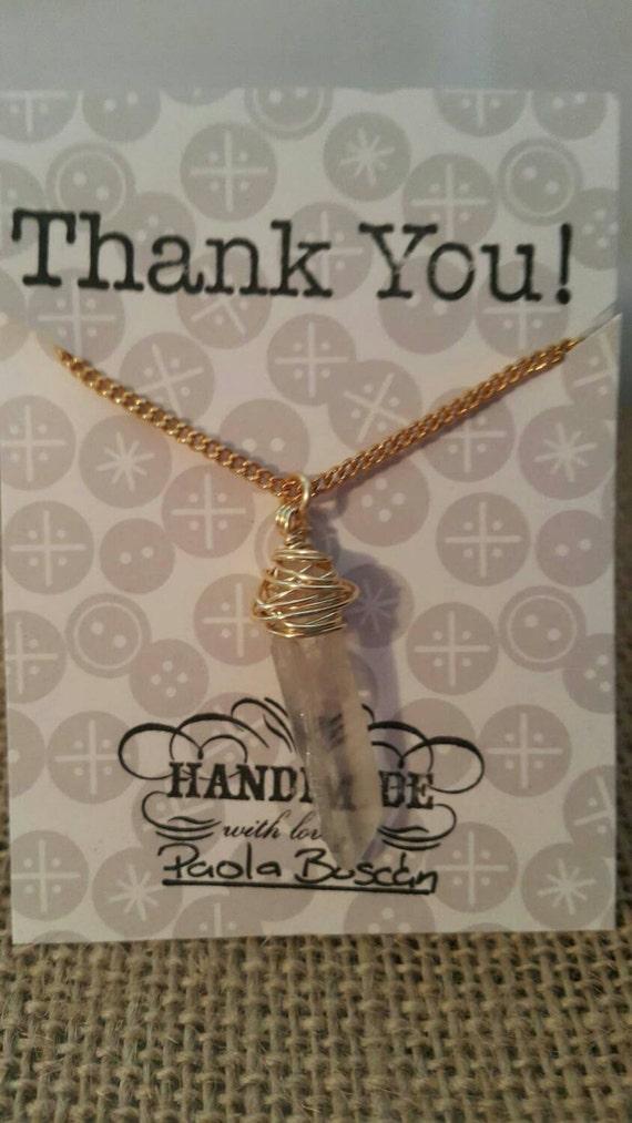 Chain with quartz. Necklaces with Quartz. Mother
