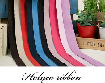 Suede Fabric Ribbon in 10 Colors / 10,25,40,60,80mm  / 4Colors / made in korea