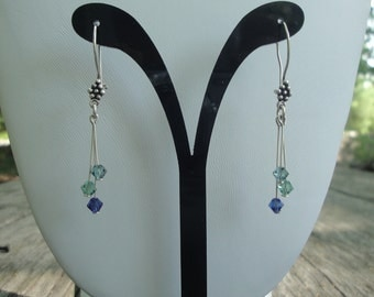 Swarovski& Sterling Silver Earrings