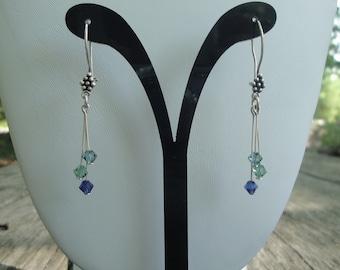 Swarovski& Sterling Silver Earrings