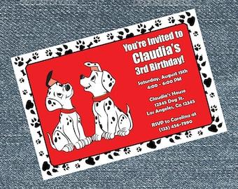 101 Dalmatian Invitations - birthday party invites
