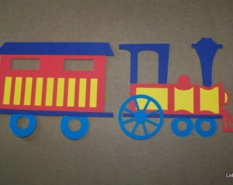 Train and caboose die cuts