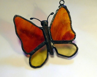 Stained glass butterfly sun catchers