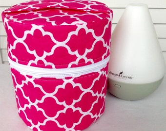 Young Living Essential Oil Diffuser Case with interior pockets for oils- Fits both the Home and Dewdrop Diffuser
