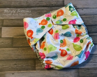 Birds Of A Different Color One Size Cloth Pocket Diaper