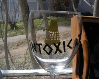 Dalek Intoxicate Wine Glass Doctor Who