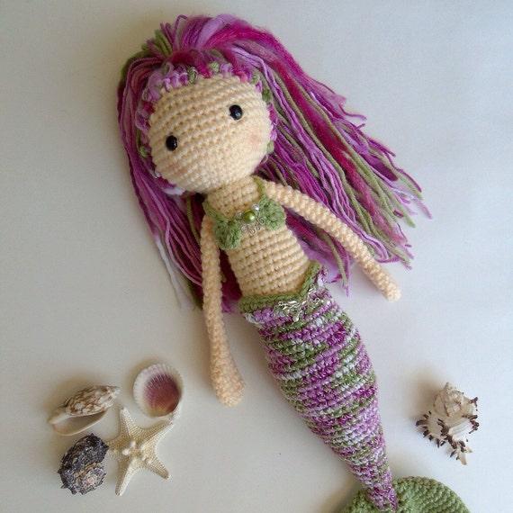 Amigurumi Mermaid Tail : Crochet Mermaid Doll / Large Amigurumi Mermaid Doll ...