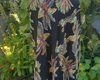 165-Summer dress-Size medium/Large-Hawai style-Womens summer fashion-Festival clothing-Black bottom-Stretch bust-Beach-Open shoulders-Gypsy-