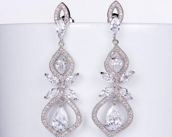 Crystal Bridal earrings Wedding jewelry Swarovski Crystal Wedding earrings Bridal jewelry, Crystal Drop Bridal Earrings stl121