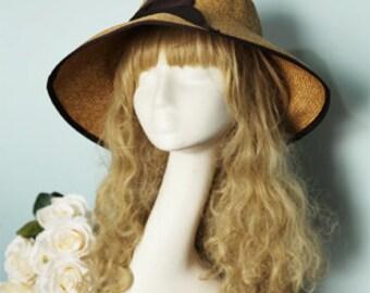 Straw Hat -Summer Straw Hat , Sun hat , womens Summer Hat ,
