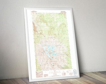 Topographic Map Etsy - Us topographic map 3d