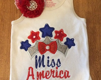 Miss America 4th of july shirt