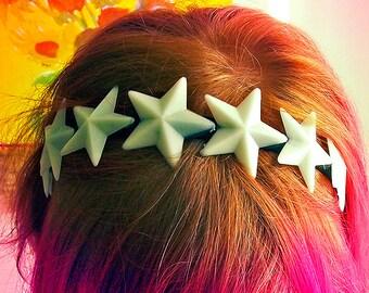 Glow In the Dark Star Crown Headband, fairy kei, uchuu kei