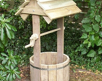 Plans for a wooden wishing well | PDF downloadable file