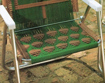 macrame lawn chair patterns macrame lawn chair etsy 4986