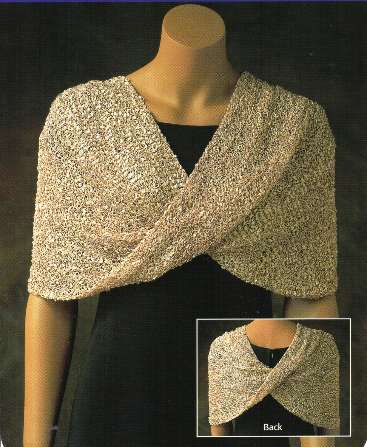 Mobius shawl poncho knitting pattern womens reversible poncho zoom bankloansurffo Gallery