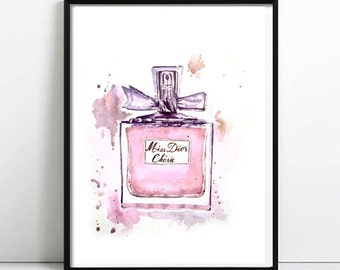Miss Dior Cherie. Watercolor