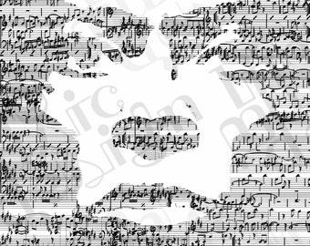 Miles Davis Music Print