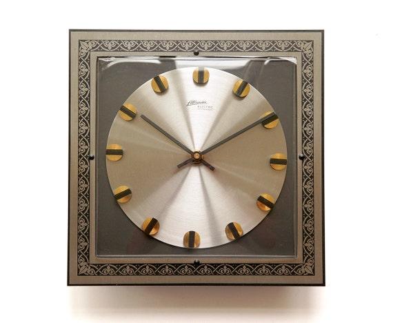 heavy mid century atlanta kienzle wall clock germany 60s