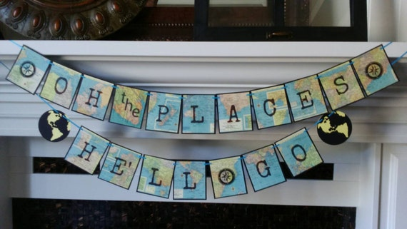Oh The Places You Ll Go Travel Theme Graduation Banner
