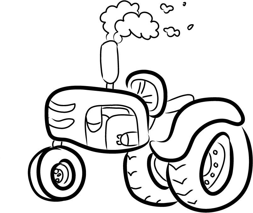 Tractor Outline 5 x 7 Machine Embroidery Design