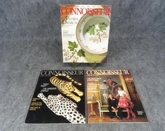 Connoisseur 1987,1988,1990 Magazine Lot Of 3