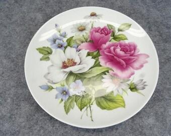 Alka Kunst Kaisor Rose Patterned Salad Plate